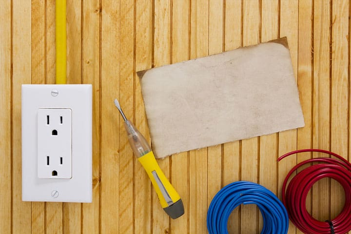 Tools used for upgrading electrical outlets
