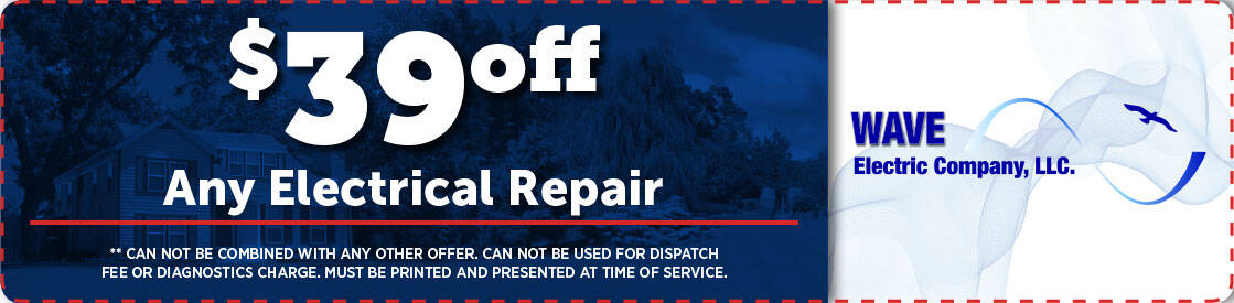 $39 off any electrical repair