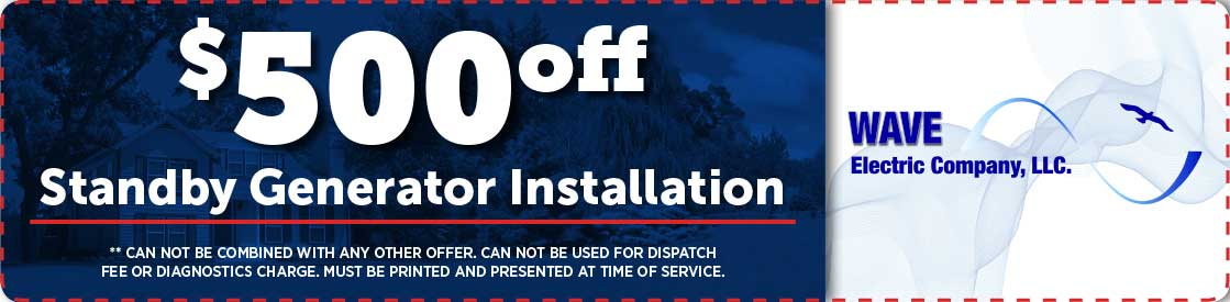 $500 off a standby generator installation